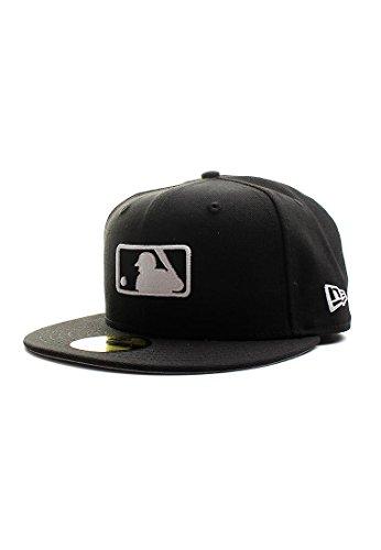 New Era Mlblog 59Fifty Cap MLB BASIC LOGO Schwarz Weiß, Size:7 7/8 (Hat Fitted Kleines Logo)