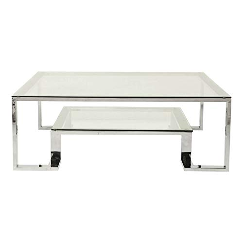 Kare Design - Table Basse 120 cm Verre et Chrome Rush