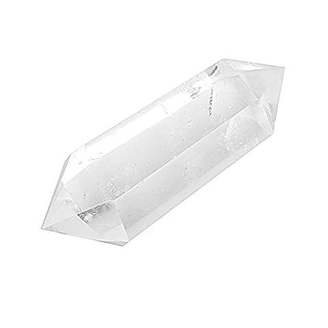 Cristal Naturel Quartz Clair Deux Point Guérison Belle Colonne de Cristal de Quartz Transparent