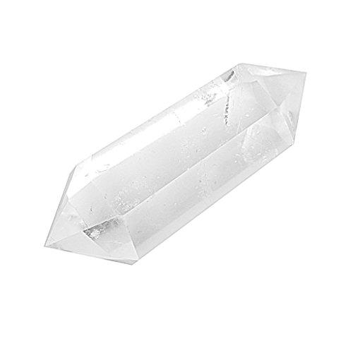 Cristallo di quarzo naturale chiaro punto doppia