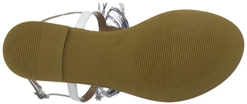 Inuovo  6391- Sandales pour femme Blanc (WHITE)