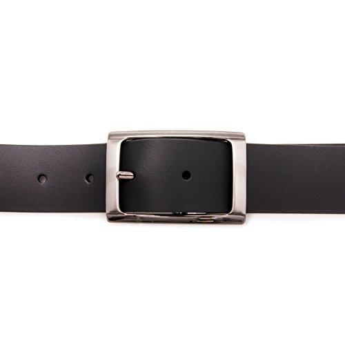 Authentique ceinture faite avec peau de vachette. Réversible. Mesures: 95-100-105-115 cm. Couleur brun noir. brun noir
