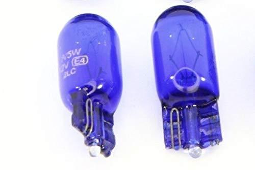 Unbekannt 2 x T10 Lampe 12V blau 5 Watt Glühbirne Xenon weiß Standlicht Kennzeichen Licht -