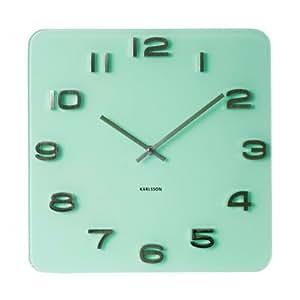 Karlsson KA5488PG Horloge Vintage Verre Vert Anis