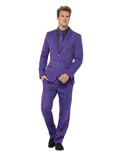 Smiffys, Herren Lila Anzug, Jackett, Hose und Krawatte, Größe: L, 43527