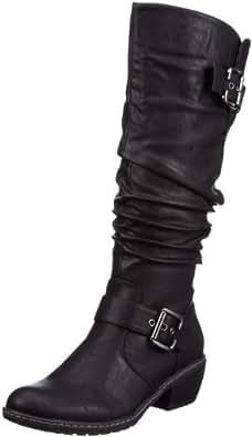 Rieker 90754-00, Damen Langschaft Stiefel, Schwarz (schwarz / 00), 39 EU (6 Damen UK)