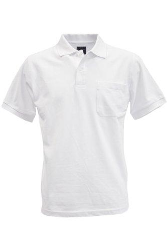 KITARO Basic Piqué Polo-Shirt in vielen Farben - S bis 8XL Weiß