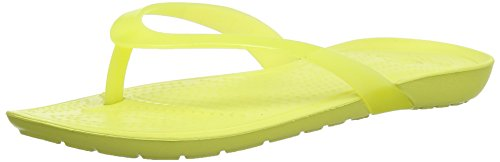 Crocs Women's Really Sexi Flip-flop Women Chartreuse Rubber Flip-Flops and House Slippers - W4  available at amazon for Rs.998