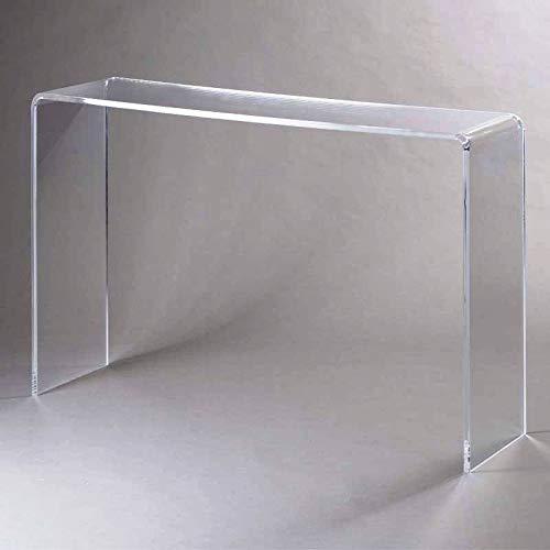 Tavolino Consolle in Plexiglass Trasparente cm 60x33x75
