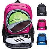 Athletico Youth Soccer Bag - Zaino da Calcio e Borse per Basket, pallavolo e Calcio, per Bambini, Ragazzi, Ragazze, Bambine, Include Tacchetta separata e Scomparto per palloni, Rosa