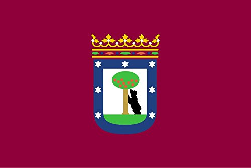 Große Flagge Madrid Stadt 150x 90cm Satin durabol -