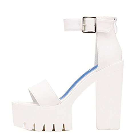 Women's Thick Heels Platform Russian Casual Sandals white / US 5.5