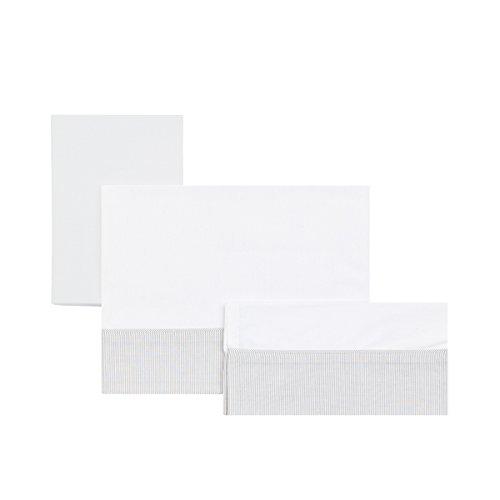 Cambrass Star - Sabana para capazo, pack de 3, color gris