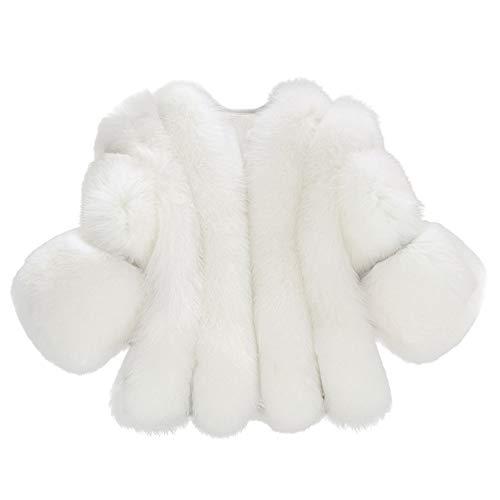 Oliviavan Damen Jacke,Frauen Mode Solide Jacken Pelz Kurze Nähte Faux Pelzmantel Plüsch Jacke Tops Mäntel Outwear Plüschmantel