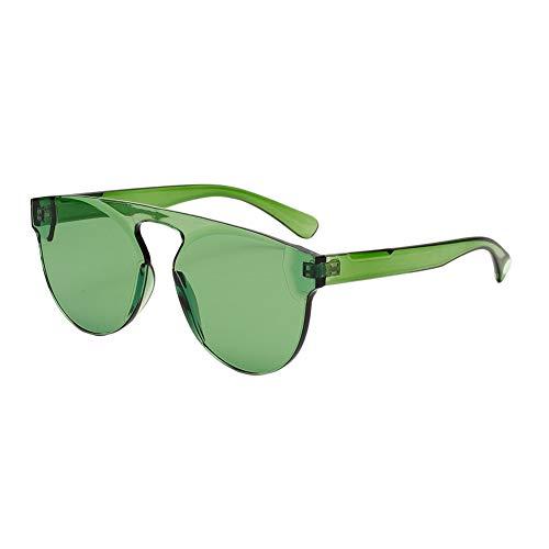 EFINNY Ein Stück übergroße Sonnenbrille transparent Candy Farbe Sommer Brille für Frauen