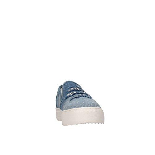 LIU-JO GIRL SCARPE SLIP ON STRASS JEANS RAGAZZA UM22937 BLU Jeans