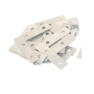 20 pcs. Flat Corner Repair Brackets Braces Plates, 60 mm x 60 mm