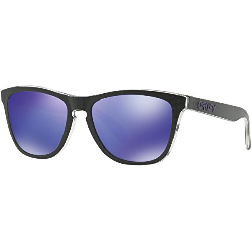Oakley Men's Frogskins (a) Non-Polarized Iridium Rectangular Sunglasses, Checkbox Black, 54.5 mm