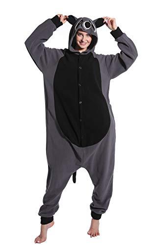 Kostüm Für Erwachsene Waschbär - dressfan Unisex Adult Animal Pyjamas Waschbär Cosplay Kostüm