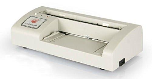 Parámetros: 1fuente de alimentación: 220V 50Hz 2tarjetas de velocidad de corte: 100/2-3min 3Grosor de corte: 120g 250g (revestimiento de papel de tarjetas de visita se pueden cortar) 4Tamaño: 90* 54mm en ángulo recto a la tarjeta de corte...