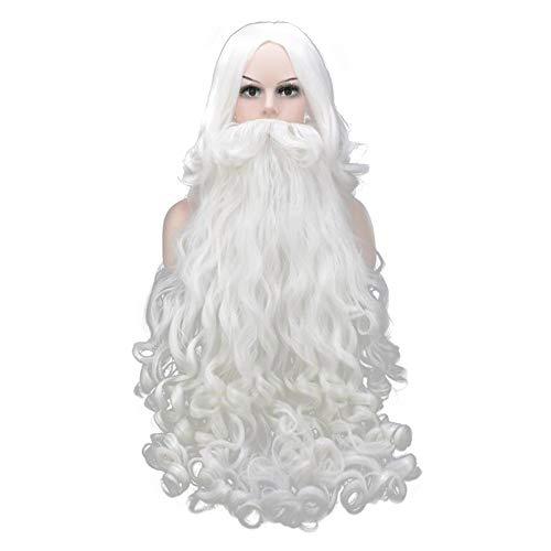 LL Perücke Perücke Hochtemperatur Seide Weihnachten Bart Santa Perücke Cosplay Hood Realistische Foto Bart Perücke Kit