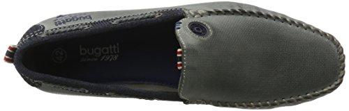 Bugatti F066713, Mocassini Uomo Grigio (Grau/D´Blau 144)