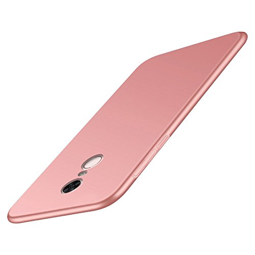BLUGUL Funda Xiaomi Redmi 5, Ultra Delgado, Revestimiento de Acabado Mate Premium, Ultra Ligero, Dura Cover Case para Redmi 5 Oro Rosa