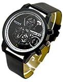 POMUTRE Assassins Creed Armbanduhr elektronisch Quarz-Uhrwerk Schwarz
