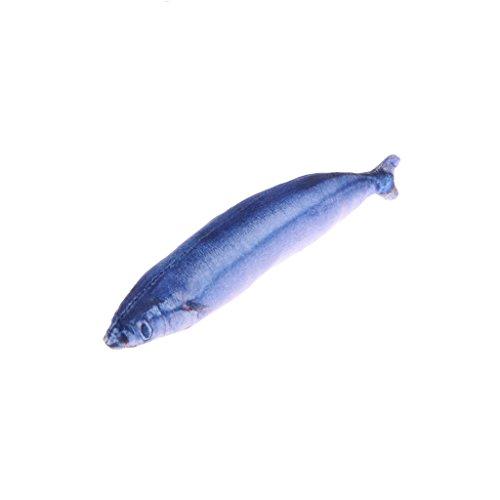 Longsw 3D Haustier-Katze, realistisch, Plüsch, Fische, Minze