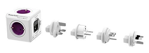 Allocacoc PowerCube Orginal Rewirable 4xSteckdose 4xTravel-Plugs violett 2859 -