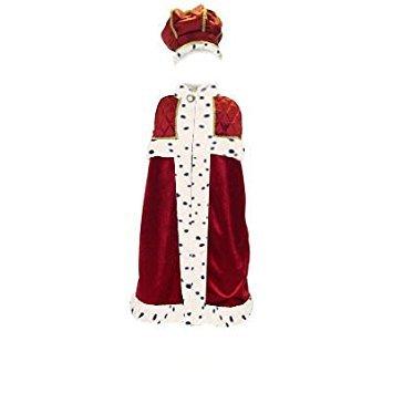 König mit Krone Kinder Fancy Kleid Krippe Kostüm (Kostüm König Krippe Kinder)