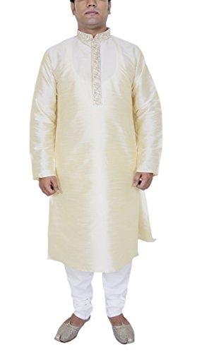 Herren-Mode Kurta Pyjama Set ethnischen indischen Kleidung aus weiß