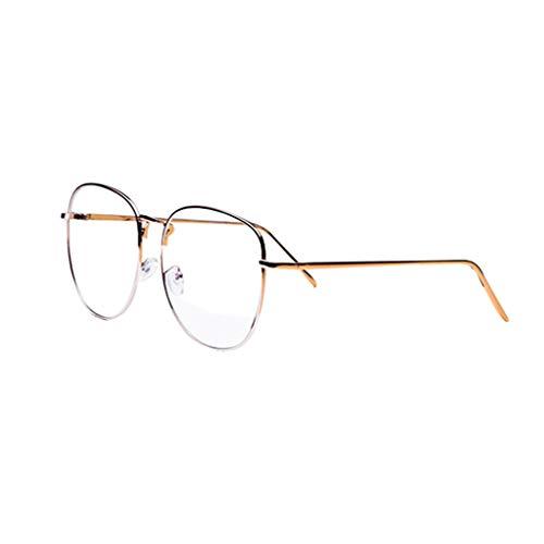 Juqilu Anti Blaues Licht Brillen Klare Linse Gläser Geek/Nerd Retro Brillengestell für Männer Frauen - lu18082002