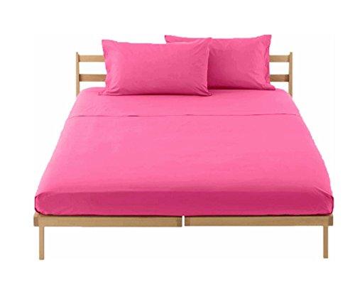 Completo lenzuola letto matrimoniale singolo una piazza e mezza 100 cotone tinta unita ss - Completo letto matrimoniale ...