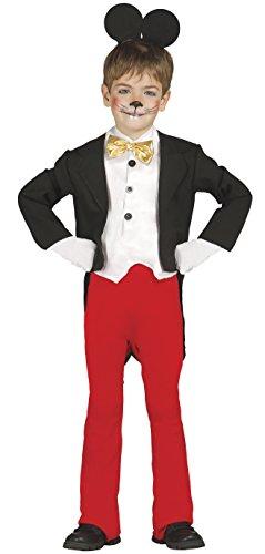 berühmte Maus - Kostüm für Kinder Gr. 98 - 134, Größe:98/104