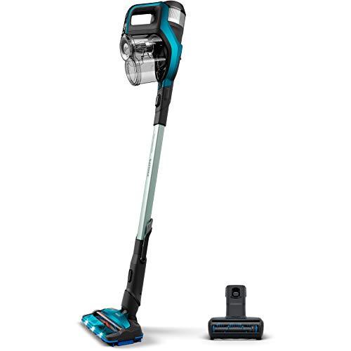 Philips FC6904/01 aspiradora de pie y escoba eléctrica Sin bolsa Color aguamarina 0,6 L - Aspiradora escoba (Sin bolsa, Color aguamarina, 0,6 L, 0,28 L, 1000 L/s, Ciclónico)