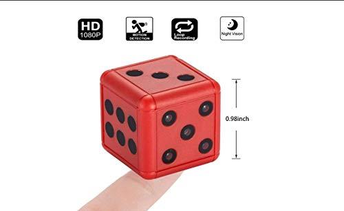 FZHLY Mini Würfel Sport kostenlose Videokamera, 1080P Sport DV Videorekorder, Kleine Nachtsicht-Bewegungserkennung, kompakter Innen/Außen Camcorder