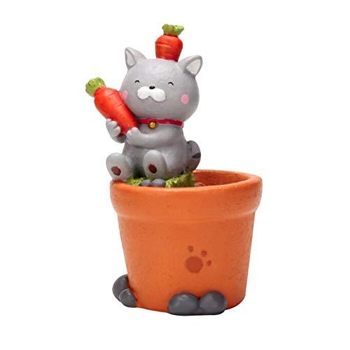 Künstliche Topfpflanze für Wohnkultur Cute Cartoon Cat Entwickelt Topf für Blume (nicht enthalten Blume)