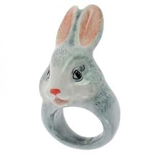 NACH bague porcelaine Femme Bague Nancy le lapin