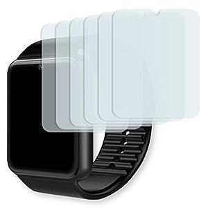 GOLEBO Yamay Bluetooth Smartwatch Displayschutzfolie – 6X Displayschutz Schutzfolie Folie Crystal Clear für Yamay Bluetooth Smartwatch (verkleinerte Folie)