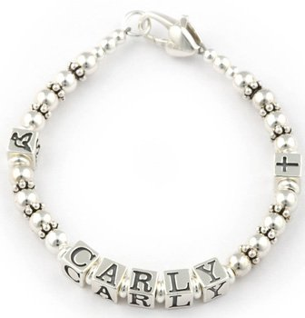 Personalised First Holy Communion Bracelet: Carly Style, Communion Gifts, Communion Jewellery