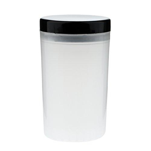 Baoblaze Tasse Vide en Plastique Nail Art Pointe Porte-brosse Remover Tasse Brosse Nettoyeur Bouteille Cleaner Cup