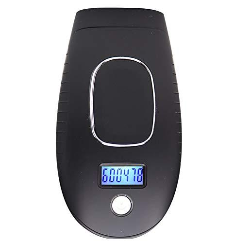 Épilateur électrique Tondeuse à cheveux pour visage, corps, dos, poitrine, bikini et aisselles unisexe - 600 000 flashs (noir)