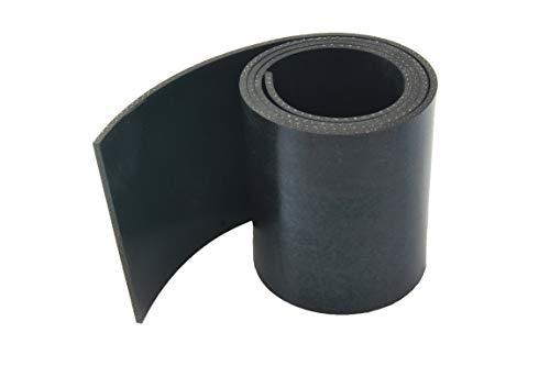 Gummistreifen mit Gewebe - 3mm stark - in verschiedenen Größen zur Auswahl   Industriequalität (1000x40x3mm)
