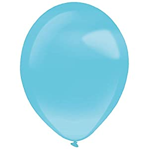 amscan 9905355 - Globos de látex (100 Unidades), Color Azul