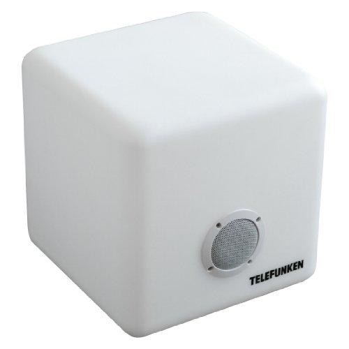 Telefunken T90403 Colourcube BT Outdoorlautsprecher (Bluetooth, verschiedene Farben) weiß