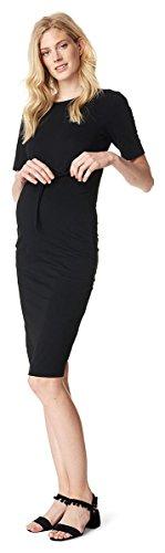 Noppies Umstandsmode Damen Kleid in dezenter Glockenform Radygo-Stoff (TNO zertifiziert) 70902-XXL / Set Gratis Baby-Tuch (Schöne Lycra-kollektion)