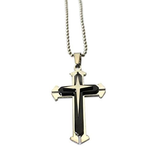 blueblack-silver-stainless-steel-cross-pendant-mens-necklace-chain