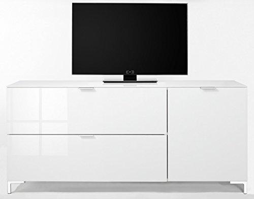 CS Schmalmöbel 45.012.505/018 TV-Board Cleo Typ 14, 163 x 50 x 73 cm, weiß / weißglas - 4