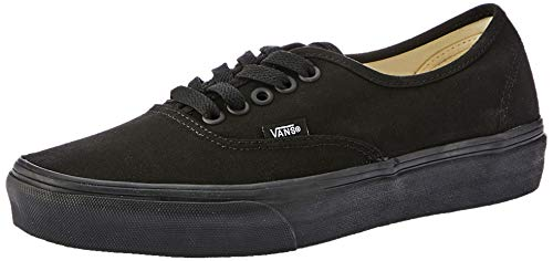 Vans Authentic, Zapatillas de Tela Unisex, Negro (Black/Black), 36.5 EU